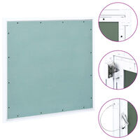 vidaXL Access Panel with Aluminium Frame and Plasterboard 500x500 mm
