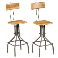 vidaXL Barové jídelní židle 2 ks masivní recyklovaný teak