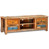 vidaXL TV stolek 4 zásuvky recyklované dřevo