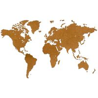 MiMi Innovations Dřevěná nástěnná mapa světa Luxury hnědá 180 x 108 cm