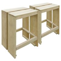 vidaXL Zahradní barové stoličky 2 ks impregnované borové dřevo
