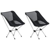 vidaXL Skládací kempingové židle 2 ks s taškou 54x50x65 cm hliníkové