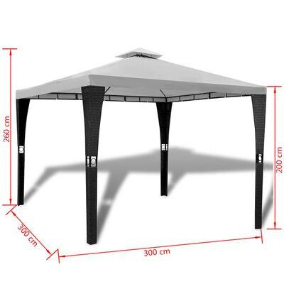 vidaXL Altán se střechou 3 x 3 m krémově bílý