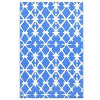 vidaXL Venkovní koberec modrý a bílý 80 x 150 cm PP