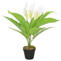 vidaXL Umělá rostlina toulitka s květináčem bílá 55 cm
