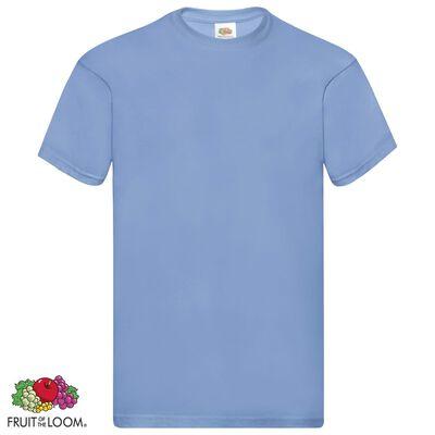 Fruit of the Loom Originální trička 5 ks světle modrá 3XL bavlna