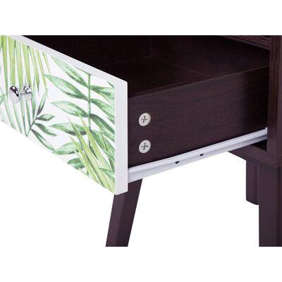 Noční stolek 1 zásuvka, tmavé dřevo, RODES,