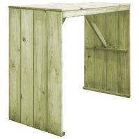 vidaXL Barový stůl 130 x 60 x 110 cm impregnovaná borovice
