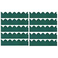 vidaXL Travní lemy 10 ks zelené 65 x 15 cm PP