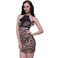 Sexy šaty s leopardím vzorem  číslo univerzalní