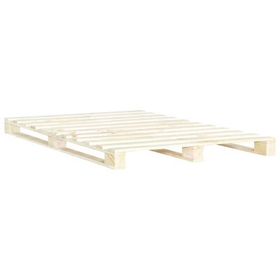 vidaXL Rám postele z palet masivní borovice 200 x 200 cm