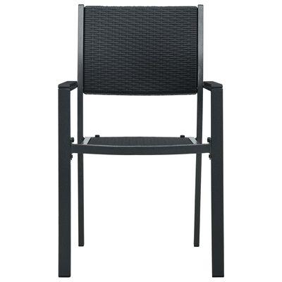 vidaXL Zahradní židle 4 ks černé plast ratanový vzhled