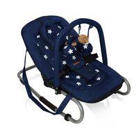 Baninni Dětské houpací lehátko Relax Classic, modré s hvězdou