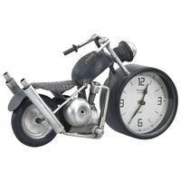 vidaXL Stolní hodiny antracitové 32 x 10,5 x 18 cm železo a MDF