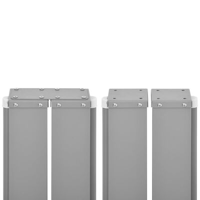vidaXL Zatahovací boční markýza / zástěna antracitová 170 x 1000 cm