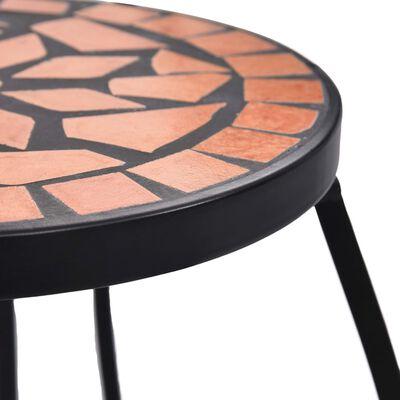 vidaXL Mozaikové stoly 3 ks terakotové keramika