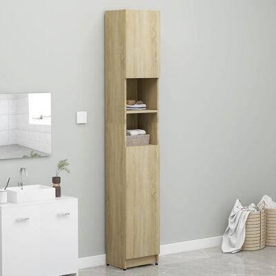 vidaXL Koupelnová skříňka dub sonoma 32 x 25,5 x 190 cm dřevotříska