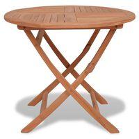 vidaXL Skládací zahradní stůl 85 x 76 cm masivní teakové dřevo