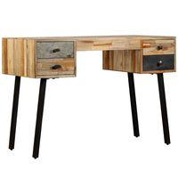 vidaXL Psací stůl, masivní recyklovaný teak 110x50x76 cm