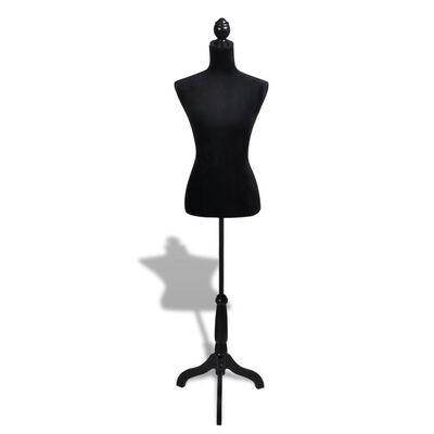 vidaXL Dámská figurína krejčovská panna černá