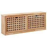 vidaXL Botníková lavice 94 x 20 x 38 cm masivní ořechové dřevo