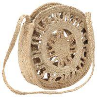 vidaXL Kulatá taška bez podšívky přírodní ručně vyrobená juta