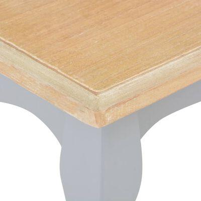 vidaXL Konferenční stolek šedý a hnědý 110x60x40 cm masivní borovice, Greyandbrown