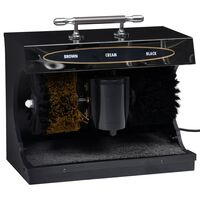 vidaXL Elektrický stroj na leštění obuvi plně automatický černý