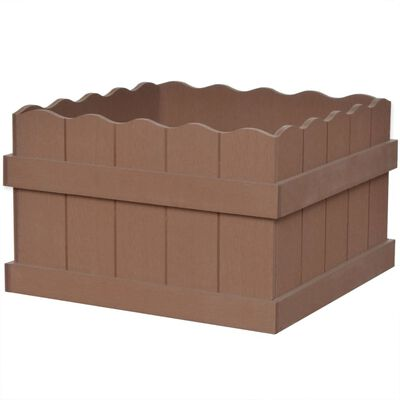 vidaXL Dřevoplastový vyvýšený záhon 40 x 40 x 25 cm hnědý