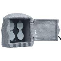 vidaXL Zahradní zásuvky 4 zdířky dálkové ovládání polyresin šedé