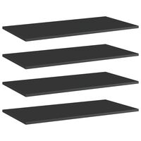 vidaXL Přídavné police 4 ks černé vysoký lesk 80x40x1,5 cm dřevotříska