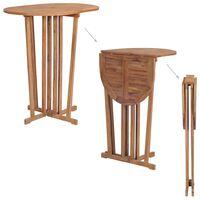 vidaXL Skládací barový stůl 100 x 65 x 105 cm masivní teakové dřevo