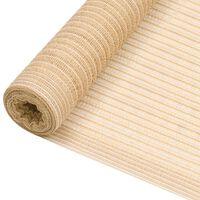vidaXL Stínící tkanina béžová 1,2 x 10 m HDPE 150 g/m²