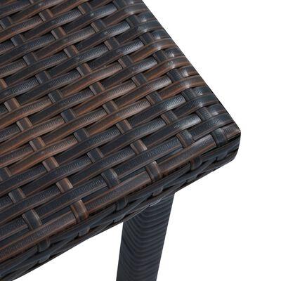 vidaXL Zahradní čajový stolek hnědý 40 x 40 x 40 cm polyratan