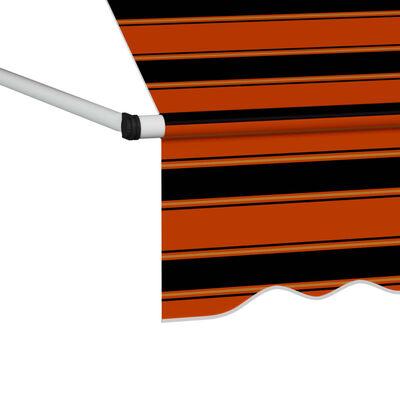 vidaXL Ručně zatahovací markýza 400 cm oranžovo-hnědá