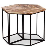 vidaXL Konferenční stolek masivní mangovníkové dřevo 48 x 48 x 40 cm