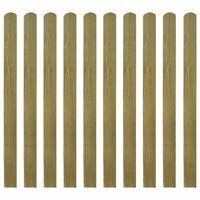 vidaXL Impregnované plotovky 10 ks dřevo 120 cm