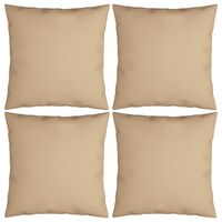 vidaXL Dekorační polštáře 4 ks béžové 40 x 40 cm textil