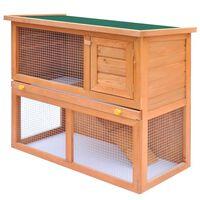 vidaXL Zahradní králikárna/domek pro drobná zvířata 1 dvířka dřevěná