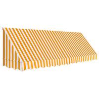 vidaXL Okenní markýza 400 x 120 cm oranžovo-bílá