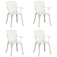 vidaXL Zahradní židle 4 ks litý hliník bílé