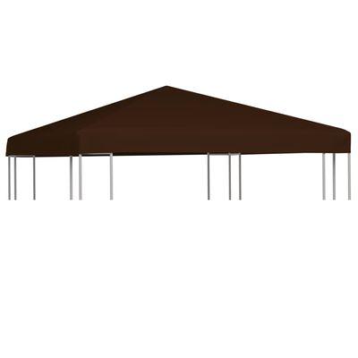 vidaXL Střecha na altán 310 g/m² 3 x 3 m hnědá