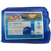 Summer Fun Letní solární plachta na bazén kulatá 500 cm PE modrá