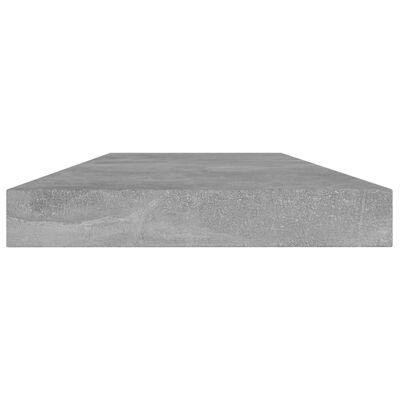 vidaXL Přídavné police 4 ks betonově šedé 40 x 10 x 1,5 cm dřevotříska