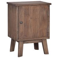 288296 vidaXL Bedside Cabinet 40x30x53 cm Solid Teak Wood