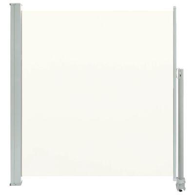vidaXL Terasová zatahovací boční markýza 140 x 300 cm krémová