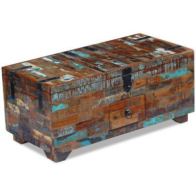 vidaXL Konferenční stolek truhla masivní recyklované dřevo 80x40x35 cm