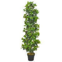 vidaXL Umělá rostlina vavřín vznešený s květináčem zelená 150 cm