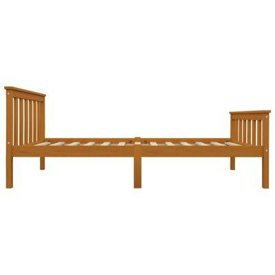 vidaXL Rám postele 2 zásuvky medově hnědý masivní borovice 100x200 cm