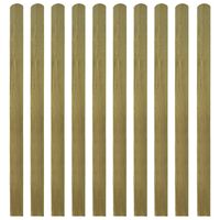 vidaXL 30 ks impregnované plotovky dřevo 140 cm